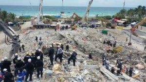 Aceleran la búsqueda y rescate de cuerpos del derrumbe en Miami: Se acerca la tormenta Elsa