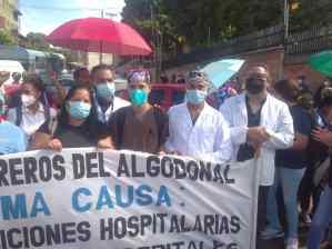 Personal de salud del hospital El Algodonal protestó por malas condiciones (Imágenes)