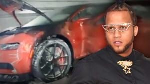 """Dominicano """"El Alfa"""" rompió el silencio tras el incendio de su vehículo Bugatti"""