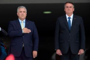 Bolsonaro le manifestó a Duque su preocupación por la actuación de grupos disidentes de las antiguas Farc